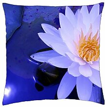 "lily, flower - Throw Pillow Cover Case (18"" x 18"")"