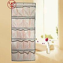 LILYJ-Shoe Cabinet Aufbewahrungstasche hängen an der Tür, hängende Wand Tasche, Staub Verbrauchsmaterialien, Kunststoff Hausschuhe Rack, Schuhe, Unterwäsche hängenden Beutel Beutel, 24 Gitter, Beige