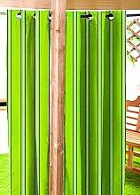 Lime Green Stripe wasserabweisend Garten Vorhangschal mit Ösen, 139,7x 304,8cm