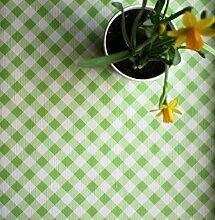 Lime Grün und Weiß kariert, Premium, geprägt,