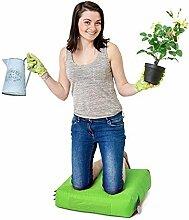 Lime Grün Wasserabweisende Outdoor Gadren Workshop DIY kniend Pad Sitzsack mit Griff und Taschen