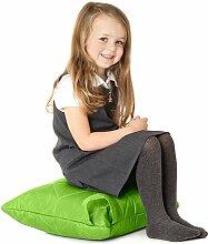Lime Grüne, gesteppte, wasserabweisende Kissen Sitzsack