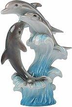 LIMEIA Delphin Skulptur-Statue, Skulptur Deko Der