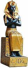 LIMEIA Messing Statue, Mumifizierter Pharao Der