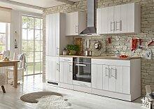 Limerick Küchenzeile Landhausoptik Weiß /