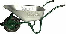 LIMEX Bauschubkarre 100l grün mit Vollgummirad -