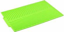Limin Antirutschmatte Silikagel Zusammenlegbarer Ablauf Drainage-Pad Wasserfilter-Pad Multifunktions-Isolations-Topf-Pad Becher-Pad 4 in einem (Color : G)