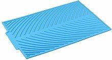 Limin Antirutschmatte Silikagel Zusammenlegbarer Ablauf Drainage-Pad Wasserfilter-Pad Multifunktions-Isolations-Topf-Pad Becher-Pad 4 in einem (Color : D)