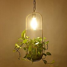 Limin Kronleuchter American ländlichen Pflanze Kronleuchter Glas Pflanze Aquarium