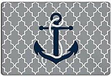 LiminiAOS Anker Fußmatte, Nautical Welcome Mat,