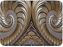 LiminiAOS Badematte Chic Diamond Bronze Gold