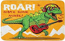 LiminiAOS Badematte Coole Dinosaurier Spielen