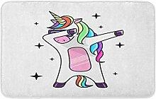 LiminiAOS Badematte der Fantasie Tupfen Pferd
