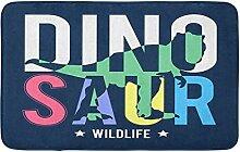 LiminiAOS Badematte Dinosaurier Slogan Gemütliche