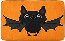 LiminiAOS Badematte Fledermaus Flying Cute Cartoon