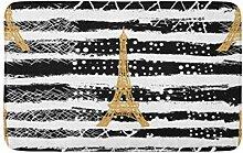 LiminiAOS Badematte Gold Paris n Eiffelturm
