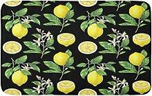LiminiAOS Badematte Grün Schwarz Zitrone n auf