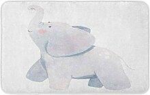 LiminiAOS Badematte Niedlich von einem Elefanten
