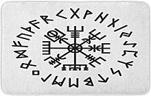 LiminiAOS Badematte Norse Vegvisir Rune
