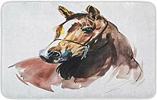 LiminiAOS Badematte Pferd Malerei Gemütliche