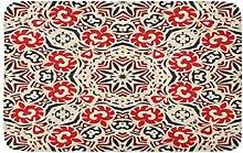 LiminiAOS Badematte Red Ikat Ethnische