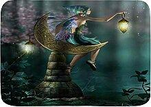 LiminiAOS Badematte Teppich, Elf mit Flügel