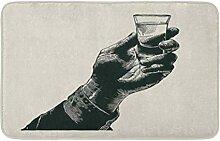 LiminiAOS Badematte Vintage männliche Hand halten