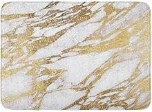 LiminiAOS Badteppich Stein Chic Elegant Weiß und