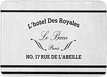 LiminiAOS Badvorleger French Le Bain