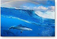 LiminiAOS Delfine in klarem Meer und Wolken und