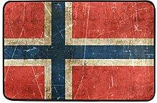 LiminiAOS Fußmatte norwegische Flagge Bad
