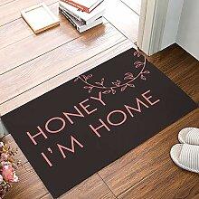 LiminiAOS matFunny Fußmatte Honey I 'm Home