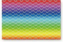 LiminiAOS Regenbogen Fischschuppen Muster Home Bad