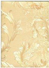 limonta–Tapete Gold mit Boden Effekt Dekofarbe spugnata Glanz mit Position oben mit Ranken Floral Klassische glänzende Satin Lachs und Gold. Neapolis 90204
