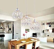 LINA-3 Einfache Kristallleuchter serviert kreative Kopf Cafe Shops Wohnzimmer studie Eisen Kronleuchter, weiße Bulls Eye