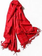 LINA Damenschals Plaid-Like Cashmere Plaid Warmer