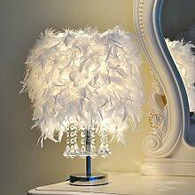 LINA-Hochzeit Geschenke studie Wohnzimmer Geburtstag moderne Schlafzimmer Nachttischlampe Kristalllampen, Feder