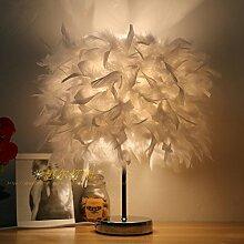 LINA-Kreative und stilvolle crystal Feder lampe led lampen schlafzimmer bett Geburtstag Hochzeit eingerichtet und in einem minimalistischen, 30cm-weiß kleine Lampen