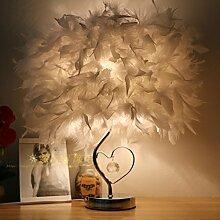 LINA-Kreative und stilvolle crystal Feder lampe led lampen schlafzimmer bett Geburtstag Hochzeit eingerichtet und in einem minimalistischen, 35CM-H kleine Lampen