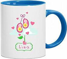 Lina Tasse Babyname Lina Mädchen Kaffeetasse mit