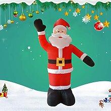LINAG Aufblasbarer Weihnachtsmann Dekoration mit