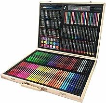LINAG Malset Kinder Malen Nähen 251 teilig Premium Wasser Farbkasten Studenten Farbstifte Malerei Gemälde Set Kunst Geschenk Schreibwaren Zeichnen Werkzeuge Briefpapier Wasserfarben