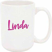 Linda 11oz Kaffee oder Teebecher Weiß Keramik