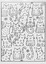 linda20y DIY Schöne Cartoon Katze Kitty Muster