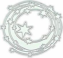 linda20y Stern Kreis DIY Metall Stanzformen