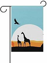 LINDATOP Afrika-Design Gartenflagge 30,5 x 45,7
