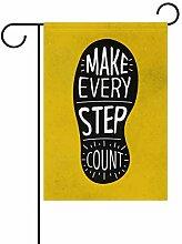 LINDATOP Fußabdruck mit inspirierender Botschaft,