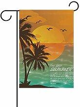 LINDATOP Garten-Flagge für Sommer, Strand,