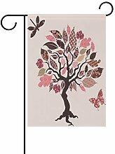 LINDATOP Garten-Flagge mit Baumdesign, 30,5 x 45,7