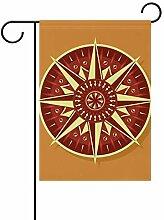 LINDATOP Garten-Flagge mit rotem Gelb, 30,5 x 45,7